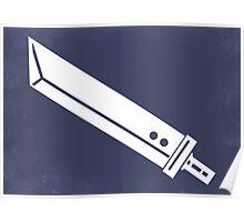 Buster Sword - Minimalist  Poster