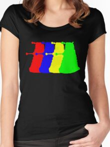 Exterminate The Colour Women's Fitted Scoop T-Shirt