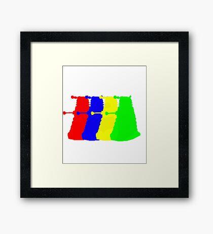 Exterminate The Colour Framed Print