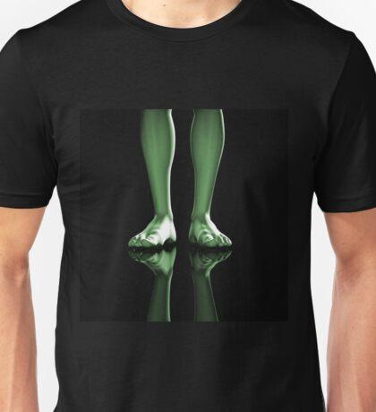 Barefoot man Unisex T-Shirt