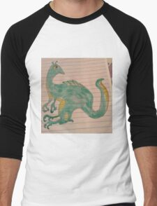 Wylie Dinosaur Men's Baseball ¾ T-Shirt