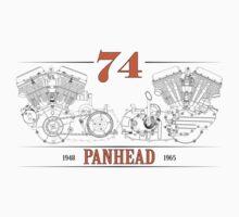 Panhead Motor in Orange/Black by RNobles