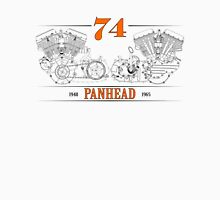 Panhead Motor in Orange/Black Unisex T-Shirt