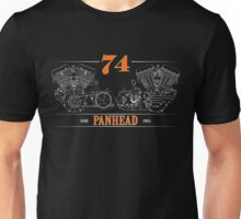 Panhead Motor in Orange/White Unisex T-Shirt