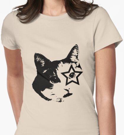 ROCKER CAT Womens Fitted T-Shirt