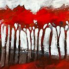 A forest of red trees by Alessandro Andreuccetti