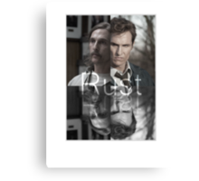 Rust Cohle 1995-2014 from True Detective, HBO Canvas Print