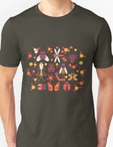 Funny insects Spider butterfly caterpillar dragonfly mantis beetle wasp ladybugs  Unisex T-Shirt