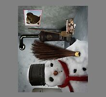 snowman at home by NafetsNuarb