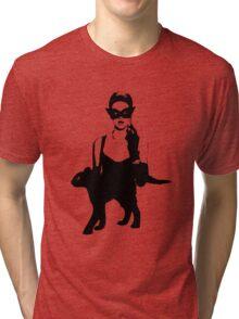 Cat Women Luxury Tri-blend T-Shirt