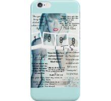 Taylor Swift 1989 Lyrics iPhone Case/Skin