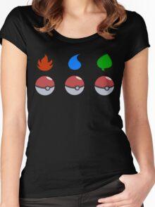 Pokemon - Starter Choice Women's Fitted Scoop T-Shirt