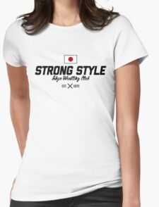 Strong Style Tokyo Wrestling Club (Black Text) Womens Fitted T-Shirt
