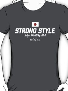 Strong Style Tokyo Wrestling Club (White Text) T-Shirt