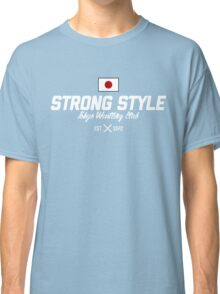 Strong Style Tokyo Wrestling Club (White Text) Classic T-Shirt