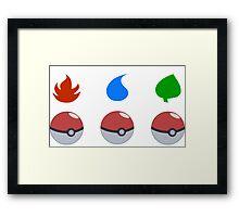 Pokemon - Starter Choice Framed Print