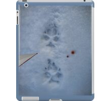footprints in the snow iPad Case/Skin
