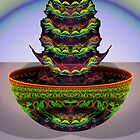 "Bowl with Fractal Cactus (""Fractus""?) by barrowda"