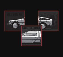 Delorean back in time by AllMadDesigns