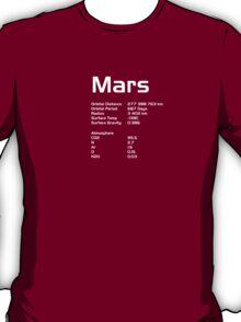 Stats of Mars T-Shirt