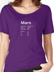 Stats of Mars Women's Relaxed Fit T-Shirt