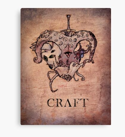 Lovecraft Heart Canvas Print
