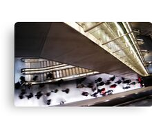 Rush Hour in Subway Canvas Print