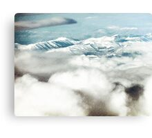 The Southern Alps and Cloud  Canvas Print