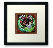 Alice in-and-out of Wonderland Framed Print