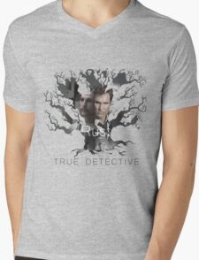 Rust Cohle tree from True Detective, HBO Mens V-Neck T-Shirt