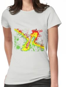 Abstract Rasta Womens Fitted T-Shirt