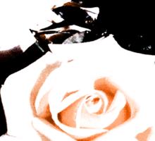 Retro Rose Peach Sticker