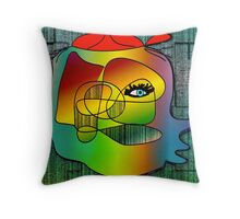 Another Picasso cartoon Throw Pillow