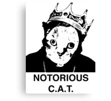 Notorious C.A.T. Canvas Print
