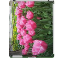pink tulip-crowd iPad Case/Skin