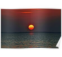 Montauk Sunset Poster