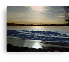 Waves of Snow: the Winter of our Discontent Canvas Print