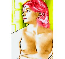 boy with red hair Photographic Print