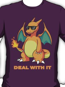 Charizard - DEAL WITH IT T-Shirt