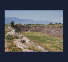 Aphrodisias Hellenic Stadium From The East One Piece - Short Sleeve