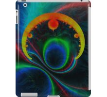 colorful magnetic field iPad Case/Skin
