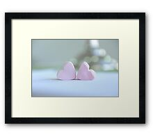 Marshmallow Hearts  Framed Print