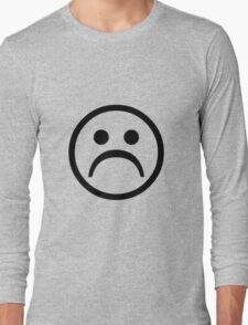 Sad Boy Face [Black] Long Sleeve T-Shirt