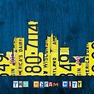 Milwaukee Skyline License Plate Art by designturnpike