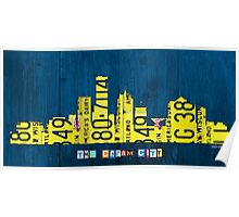 Milwaukee Skyline License Plate Art Poster