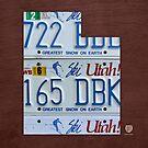Utah License Plate Map by designturnpike