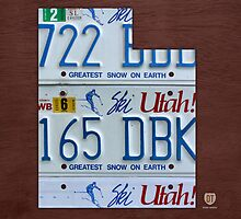 Utah License Plate Map by designturnpike