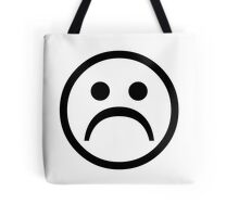 Sad Boy Face [Black] Tote Bag