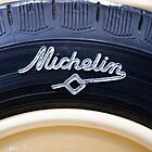 Old Michelin tire by Jeremy  Barré