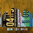 New Orleans Skyline License Plate Art by designturnpike